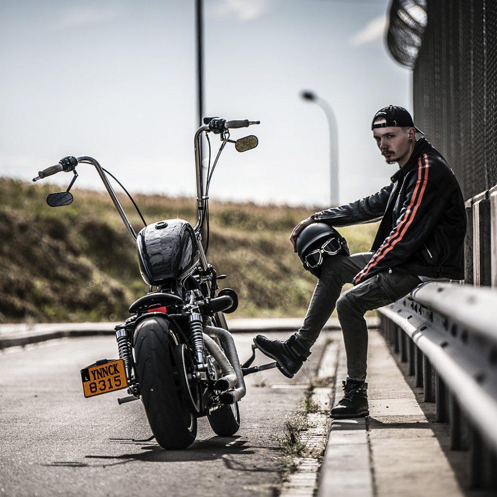 Portrait Biker Motorrad Luxemburg