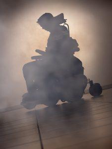 Silhouette Nebel Magie Zauberei magisch Rollstuhl
